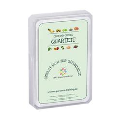 Obst und Gemüse Quartett Kartenspiel - Lernspiel für Schule und Familie