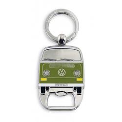 VW Bus T2 Schlüsselanhänger mit Flaschenöffner grün