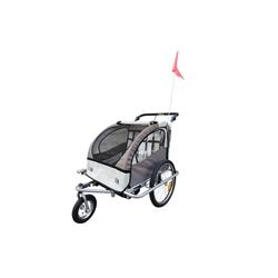 HOMCOM Fahrradkinderanhänger Kinderanhänger 2 in 1 – Fahrradanhänger und Jogger