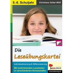 Die Leseübungskartei