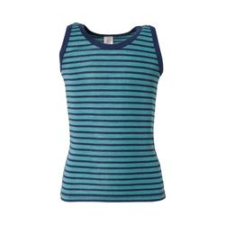 Engel Unterhemd Kinder Unterhemd Wolle/Seide blau 104