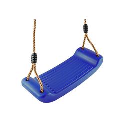 GO!elements Einzelschaukel Sky Stormer, Schaukel Garten - Kinderschaukel Outdoor Indoor - Schaukelsitz Schaukelbrett Brettschaukel für Kinder zum Schaukeln - Höhenverstellbar - Rutschfest blau
