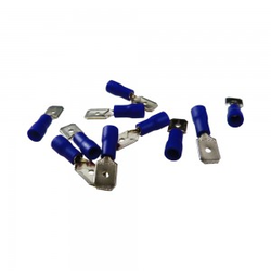 10Stk Flachstecker Flachsteckhülsen Kabelschuhe AS2 6,3 x 8 Blau 1,5-2,5mm²