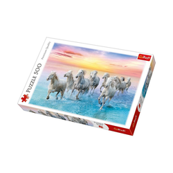Trefl Puzzle Puzzle 500 Teile - weiße Pferde, Puzzleteile