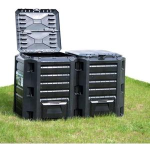 vidaXL Gartenkomposter Schwarz 800 L
