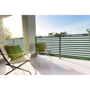 FLORACORD Balkonsichtschutz , BxH: 500x90 cm, grün/weiß grün