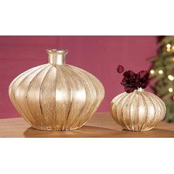 GILDE Tischvase Antigua, Glas Ovale Vase