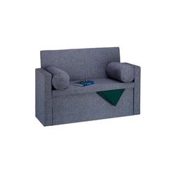 relaxdays Sitzbank Sitzbank Lehne mit Kissen grau