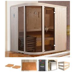 weka Sauna Sara 1, BxTxH: 194 x 194 x 199 cm, 68 mm, 7,5 kW Bio-Kombiofen mit ext. Strg.