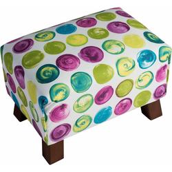Max Winzer® Fußhocker Footstool, Minihocker Breite 40 cm, mit bunten Punkten gelb