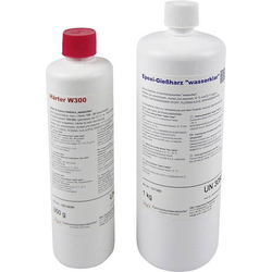 R & G 1071023 Epoxid-Gießharz (wasserklar) 1kg + Härter W 300 350g 1 Set