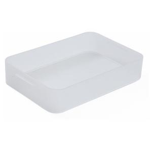 Rotho PURE Box, transparent, Aufbewahrungsbox aus Kunststoff , Maße: 242 x 155 x 47 mm, Füllmenge: 1,3 Liter