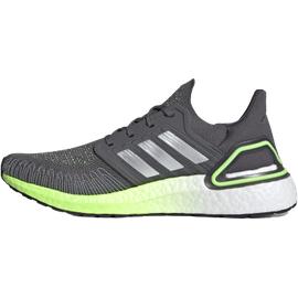 adidas Ultraboost 20 M grey five/silver metallic/signal green 45 1/3