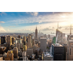 Papermoon Fototapete New York City Skyline, glatt 2 m x 1,49 m