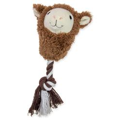 Karlie Plüschspielzeug mit Seil Alpaka