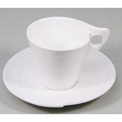 Retsch Arzberg Espressotasse Julie, (Set, 12 tlg., 6 Espresso Obertassen-6 Untertassen), Tassen, Untertassen weiß Becher Tassen Geschirr, Porzellan Tischaccessoires Haushaltswaren
