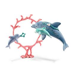 Schleich® Bayala 41463 Delfin-Mama mit Babies Spielfiguren-Set