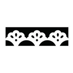 Bordürenstanze klein Blumen 15 x 4 cm