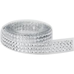 Strassband, kristall, 10 mm, 92 cm