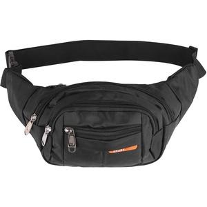 DHOUTDOORS Gürteltasche Bauchtasche Multifunktionale Hüfttasche mit Reißverschluss Geeignet für Reise Wanderung und Alle Outdoor Aktivitäten Schwarz für Damen und Herren