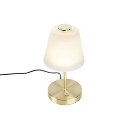 Design Tischlampe gold dimmbar inkl. LED - Regina