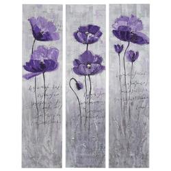 Ölgemälde Lila Blumen, 100% handgemaltes Wandbild Gemälde XL, 120x90cm