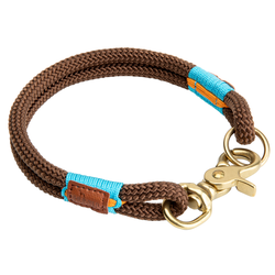 HUNTER Hundehalsband Oss braun, Breite: 2 x Ø ca. 12 mm, Länge: ca. 65 cm - ca. 65 cm