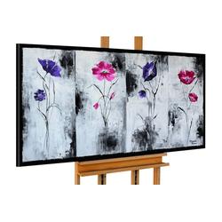 KUNSTLOFT Gemälde Perspektivenwechsel, handgemaltes Bild auf Leinwand