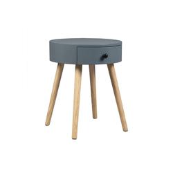 Woltu Nachttisch, Beistelltisch Nachttisch mit Schublade 38x38x48cm grau