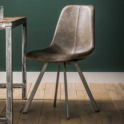 Esstisch Stühle in Taupe Kunstleder modern (4er Set)