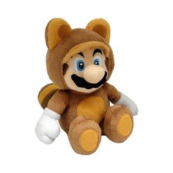 Super Mario Kuscheltier Super Mario Plüschfigur Tanooki Mario, 22 cm