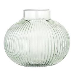 Bloomingville Vase abgerundetes Glas grün