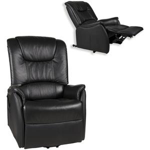 TV-Sessel - XXL - schwarz - Leder - mit Funktionen