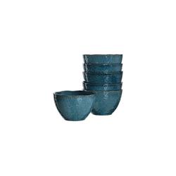 LEONARDO Schale MATERA Keramikschale 15,3 cm blau 6er Set, Keramik, (6-tlg)