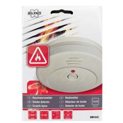 Fotoelektronischer Rauchmelder mit lautem 85 dB(A) Warnton inklusive Batterie