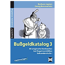 Bußgeldkatalog 3  Sekundarstufe I. Barbara Jaglarz  Georg Bemmerlein  - Buch