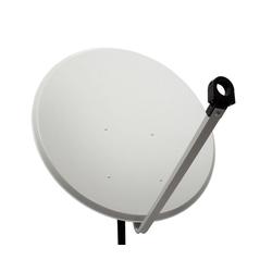 PremiumX PXA100 Satellitenschüssel 100cm ALU Hellgrau Satellitenantenne SAT Spiegel mit LNB Tragarm und Masthalterung SAT-Antenne