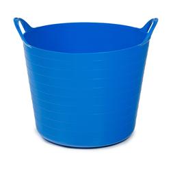 ONDIS24 Wäschekorb Tragekorb Flexi Tub 40L, Spielzeug Eimer Kinderzimmer, Wäschekorb Flexibler Kunststoff, Garten Kübel, rot blau