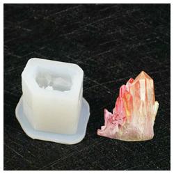 Masbekte Silikonform, 3D, Silikonform, Gießform Schmuck, Kristall Cluster, Stein, Harzform, Anhänger Mould B
