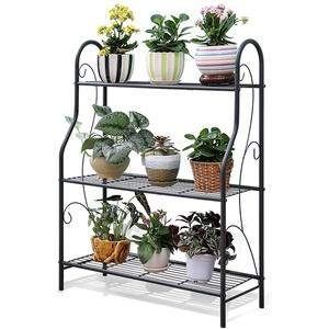 JXXQD Blumenständer Hält Indoor Blumenständer Schmiedeeisen Multilayer Topf Rack Wohnzimmer Balkon Blumenregal, 70,3 * 83 * 24,3 cm