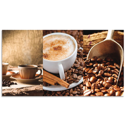 Artland Küchenrückwand Kaffee - Cappuccino - Heißer Kaffee, (1-tlg) 120 cm x 65 cm x 0,3 cm