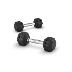 Capital Sports Dumbbell Hexbell Dumbbell Kurzhantel Paar 2x2,5kg, 5 kg, (2-tlg)