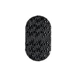 Badematte Badewannenmatte oval Massage relaxdays schwarz