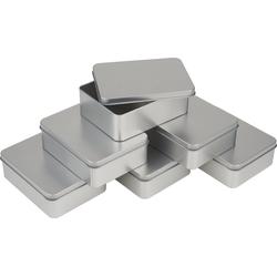 VBS Aufbewahrungsbox, Metall, Metall, eckig, 6 Stück