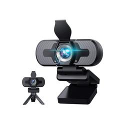 IVSO Webcam mit Mikrofon, Plug & Play 1080P Webcam mit Sichtschutzstativ,110 Grad Weitwinkel 30fps Webcam mit Mikrofon für Videokonferenzen, Webcam (1920 X 1080P, Calling/Gaming/Skype/Zoom in Laptop)