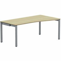 WORK Freiformtisch mit 4-Fußgestell, 100/80cm tief