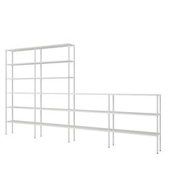 Raumteiler Regal in Weiß Stahl 220 cm hoch
