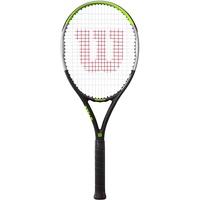 Wilson Tennisschläger Blade Feel 100, Fortgeschrittene Spieler, Carbon/Basaltfasern, Grün/Grau/Schwarz, WR054510U3