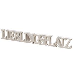"""Aufsteller """"Lieblingsplatz"""" in weiß, 60 cm"""