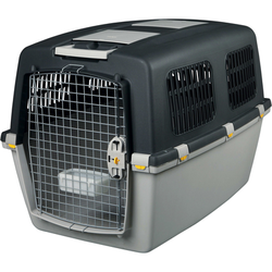 Transportbox Hund Gulliver, IATA Flugbox, Gulliver 6: 92x64x64 cm, dunkelgrau/hellgrau